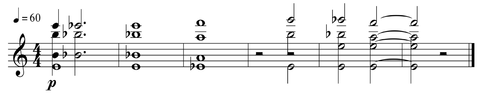 Figure 3 : Dead Ringers, cue 10 (01 :02 :38-01 :03 :01), cordes – transcription.